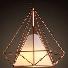 Aliexpress.com: Comprar Moderna pirámide Art hierro nórdica diamante luces pendientes negro / blanco Birdcage colgante de techo casa lámparas decorativas luminaria de años luz de la iluminación fiable proveedores en Ramada Lighting
