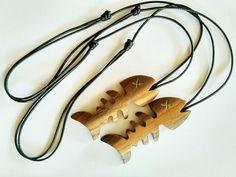Handmade Fish Bone Wooden Necklace