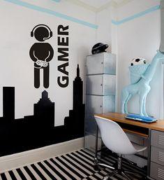 Muursticker GAMER | Muurstickers voor Gamers | MUURSTICKERS / 101WOONSTICKERS / MUURSTICKERS