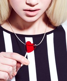 "Lolly Necklace | ""Lick any outfit into shape with this playful necklace."""