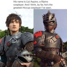 His name is Liui Aquino, a filipino cosplayer. And I think, by far, he' st Hiccup cosplayer I - iFunny :) Disney Cartoons, Disney Pixar, Disney And Dreamworks, Funny Cartoons, Funny Memes, Amazing Cosplay, Best Cosplay, Funny Cosplay, Liui Aquino