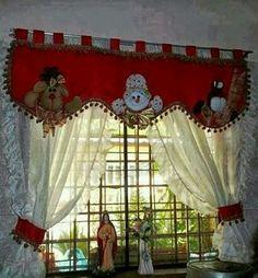 Cenefa navideña Christmas Sewing, Felt Christmas, Christmas Home, Handmade Christmas Decorations, Xmas Decorations, Holiday Decor, Christmas Projects, Christmas Crafts, Christmas Ornaments