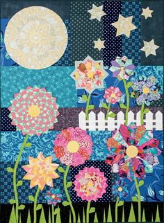 """""""Spring at Midnight"""" quilt by Paula Storm Designs"""