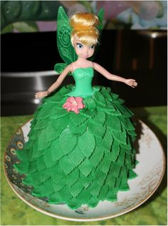 Tinkerbell cake_with some added hacks on making this cake
