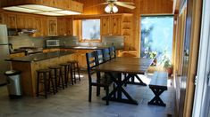 Beautiful 4 bedrooms cabin, 5 minutes walk to the sandy beach! Enjoy your stay at our beautiful 4 bedrooms, 2 bathrooms cabin that sits surrounded by the t. Ideal Home, Cabin, Vacation Rentals, Kitchen, Bathrooms, House, Furniture, Beach, Home Decor
