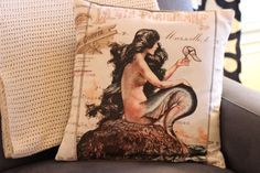 Walking with Cake: Jolie Marche La Vie Parisienne Mermaid pillow cover Mermaid Nursery Theme, Nursery Themes, Mermaid Pillow, Crate And Barrel, Really Cool Stuff, Crates, Indigo, Pillow Covers, Walking