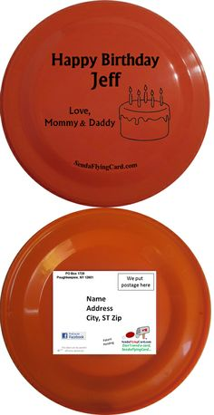 Send a frisbee with a personal message