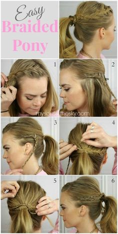 Easy Braided Ponytail Hairstyle Tutorial: Long Hairstyles Ideas for School