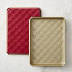 Williams-Sonoma Red Goldtouch® Quarter Sheet Pans, Set of 2