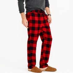 Flannel pajama pant in buffalo check : sleepwear | J.Crew