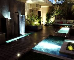 A bit elaborate - but i really like the idea of a hot tub / pool built into the deck.