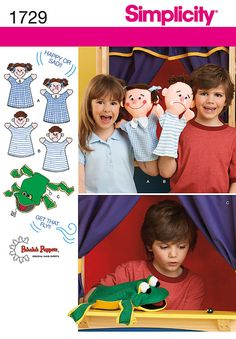 Simplicity 1729 Hand Puppets patterns to make by ucanmakethis, $3.50