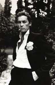 "Helmut Berger and his film noir ""dandy"" feel"