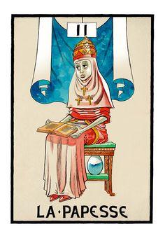 II. The High Priestess - Jamie Hewlitt Tarot by Jamie Hewlitt