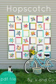 V and Co. Hopscotch pattern  I love wonky stars ~I'm doing this, if I win the patriotic stars lotto.
