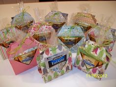 """Tea Pouch & Cookie Holder by Donna Wicks $4.00 Tea Pouch & Cookie Holder This idea is an original design from Debi Pippin. Chiaki Haverstick has tutorial on her blog, click on the tab """"Instruction Sheets"""" Towards bottom you click Teabag and Cookie Holder.  TIP: To cut even corners, cut away one corner and then use that piece as a template (guide) on the remaining three corners, cutting alongside it"""