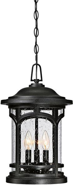 "Marblehead 11"" Wide Mystic Black Outdoor Hanging Light"