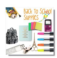 """""""Back To School Supplies!!"""" by mariabrown3005 ❤ liked on Polyvore"""