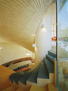 House Kotilo by Olavi Koponen    Literally designed around a fireplace of which almost all the spaces of the house are twisted around for heating efficiency.