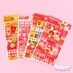 Kawaii Rilakkuma Puffy Sticker Sheet - Kawaii Stickers - Stationery | Blippo Kawaii Shop