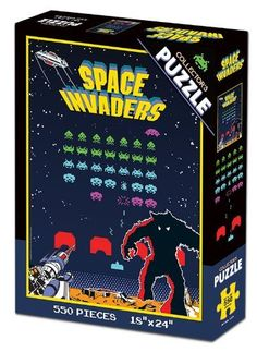 (1) Space Invaders and (1) Pac-Man Collectors Puzzles (2 Total) @ niftywarehouse.com #NiftyWarehouse #PacMan #VideoGames #Pac-man #Arcade #Classic