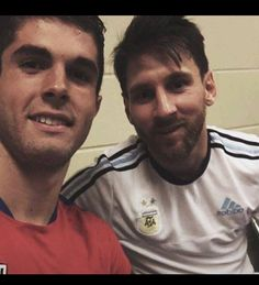 Christian Pulisic and Lionel Messi