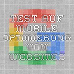 Test auf mobile Optimierung von Websites