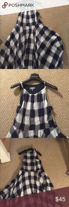 Neiman Marcus checkered handkerchief dress Neiman Marcus asymmetrical checkered handkerchief dress for the woman of means with respect and love for the past but a mind set on the future. Never been worn no tags Neiman Marcus Dresses Asymmetrical