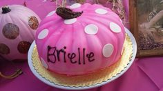 Pink and Brown , pumpkin cake cor fall baby shower