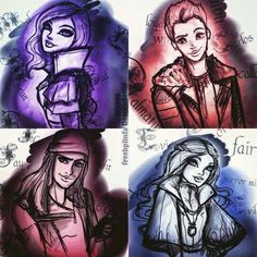 Disney Channel Descendants, Disney Descendants 3, Descendants Cast, Descendants Pictures, Bff Drawings, Cute Disney Drawings, Cameron Boyce, Kid Movies, Disney Movies