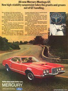 1972 Mercury Montego GT - All-new Mercury Montego GT - Original Ad
