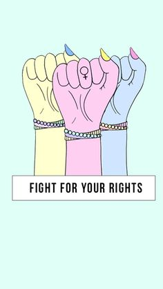 I want equal rights, in all ways.