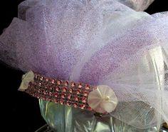 bachelorette veil, bachelorette party veil, bachlorette accent veil, purple sparkle veil , lavender bridal party veil, hen party veil , veil by SuspendedStar on Etsy