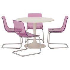 DOCKSTA/TOBIAS Table and 4 chairs - IKEA . I Love this! If only I didn't live with a boy.