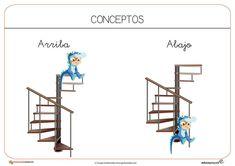 Recursos para el aula: Conceptos arriba y abajo Teaching Resources, School Stuff
