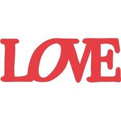 Silhouette Design Store - View Design #9651: love