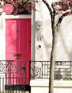 bright pink door #decor #pink