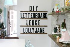 You searched for Letter board - Lolly Jane Diy Letter Board, Diy Letters, Letter A Crafts, Wood Letters, Letter Wall Decor, Cool Lettering, Diy Blog, Diy Signs, Home Projects