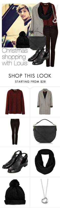 """""""Christmas shopping with Louis"""" by style-with-one-direction ❤ liked on Polyvore featuring Uniqlo, Topshop, Mulberry, Elsa Peretti, OneDirection, 1d, louistomlinson and louis tomlinson one direction 1d"""