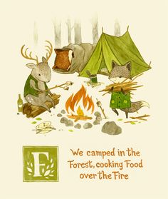 F is for fire, forest and food