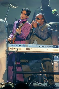 Prince 30 Years in Pictures — Prince and Stevie Wonder