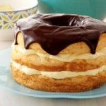 Boston Cream Angel Food Cake...now my new favorite cake