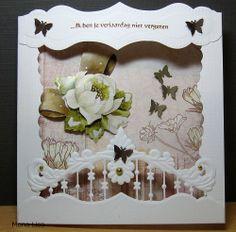 Voorbeeldkaart - ik ben je verjaardag nier vergaten - Categorie: Stansapparaten - Hobbyjournaal uw hobby website