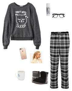 """Bedtime🤗"" by kimoconey on Polyvore featuring Wildfox, DKNY, Foamtreads, L:A Bruket, Hershesons and Casetify"