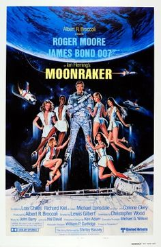 James Bond 007 Moonraker, 1979 - original vintage poster by Dan Goozee (Daniel Goozee) listed on AntikBar.co.uk