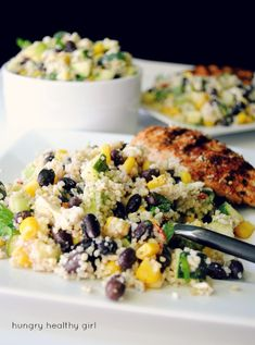 Chilled Black Bean Couscous Salad