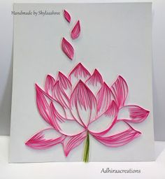 Quilled Lotus More