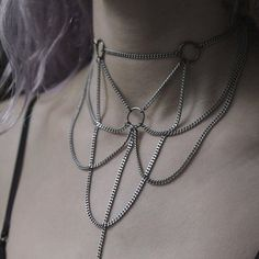 Exhilarating Jewelry And The Darkside Fashionable Gothic Jewelry Ideas. Astonishing Jewelry And The Darkside Fashionable Gothic Jewelry Ideas. Body Chain Jewelry, Body Jewellery, Cute Jewelry, Jewelry Accessories, Jewelry Design, Diy Body Chain, Bullet Jewelry, Designer Jewelry, Jewelry Box