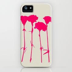 Carnations_Pink iPhone Case by Garima Dhawan/Society6