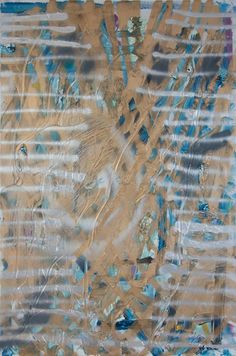 Stella Corkery: Untitled 98; oil and spray paint on readymade canvas and stretcher, 610mm x 910mm